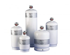 Various size gas cylinders
